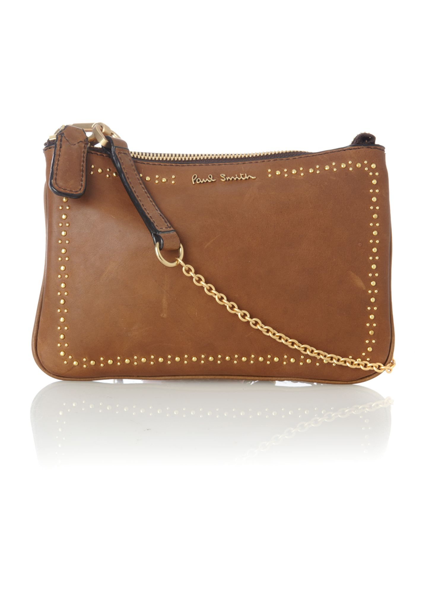 Paul Smith British Broguing Small Leather Cross Body Bag