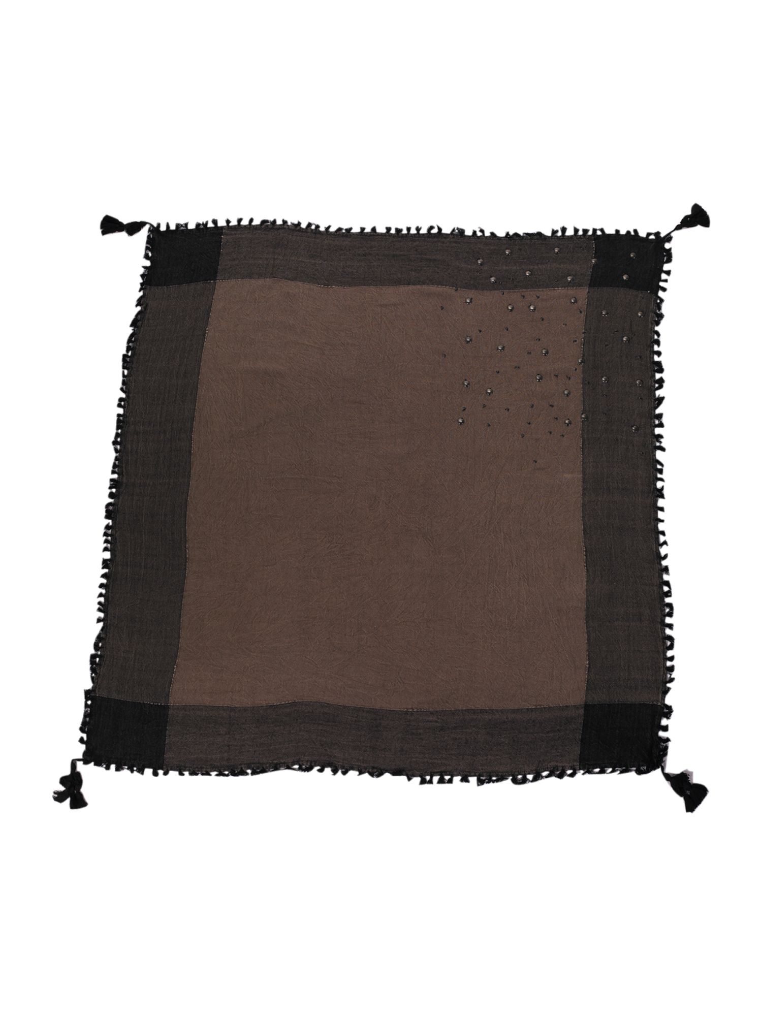 Garment washed bedouin scarf