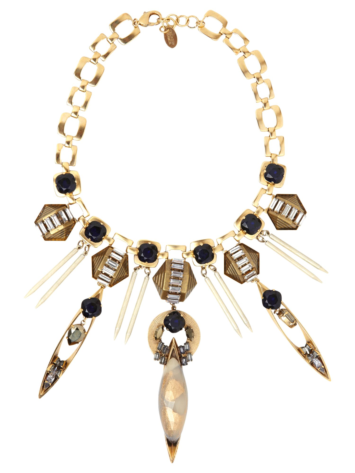 Dune Lucite stone statement necklace