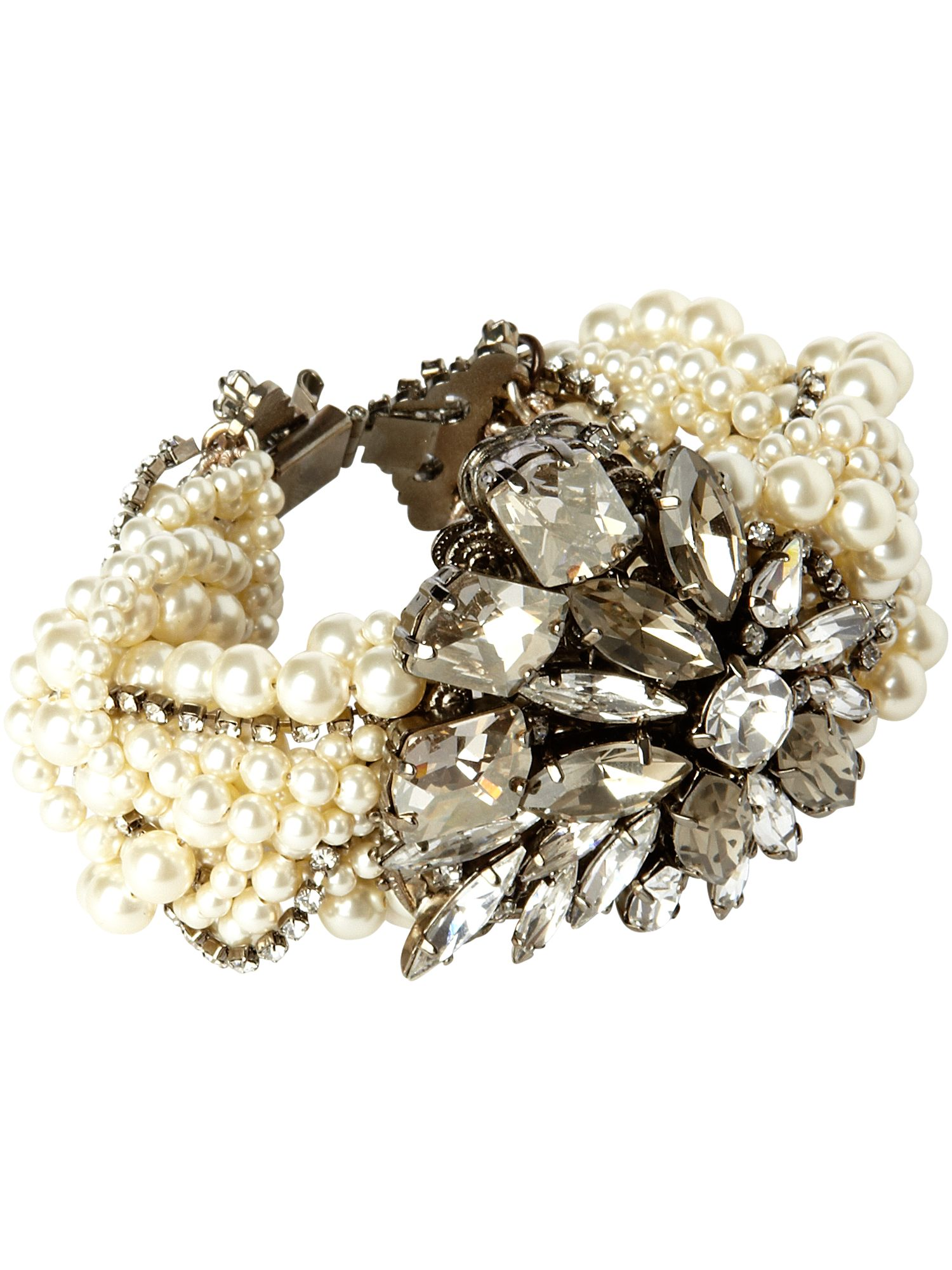 New World Swarovski pearl and crystal bracelet