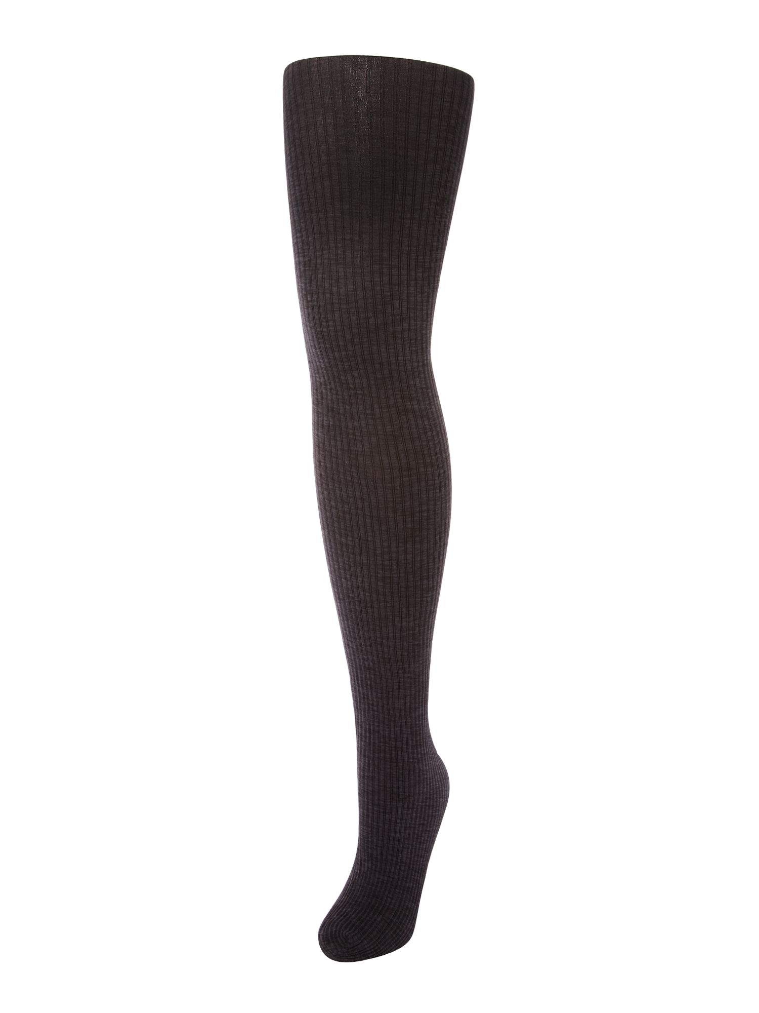 60 den ribbed marl opaque tights
