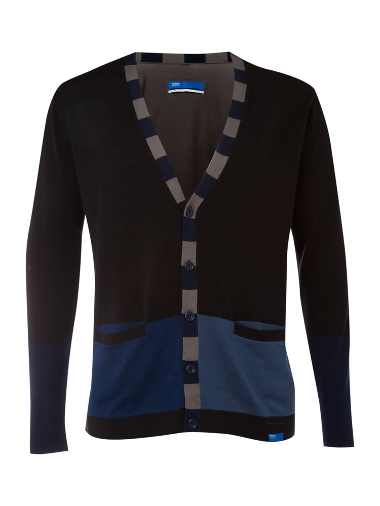 Adidas-Block-Coloured-Cardigan-In-Black