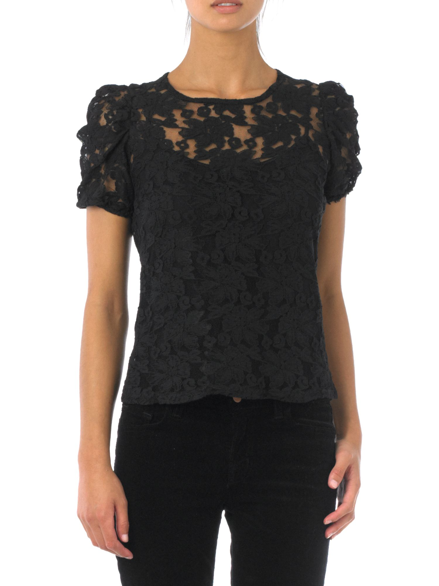 Therapy Womens Therapy All over lace blouse, Black product image