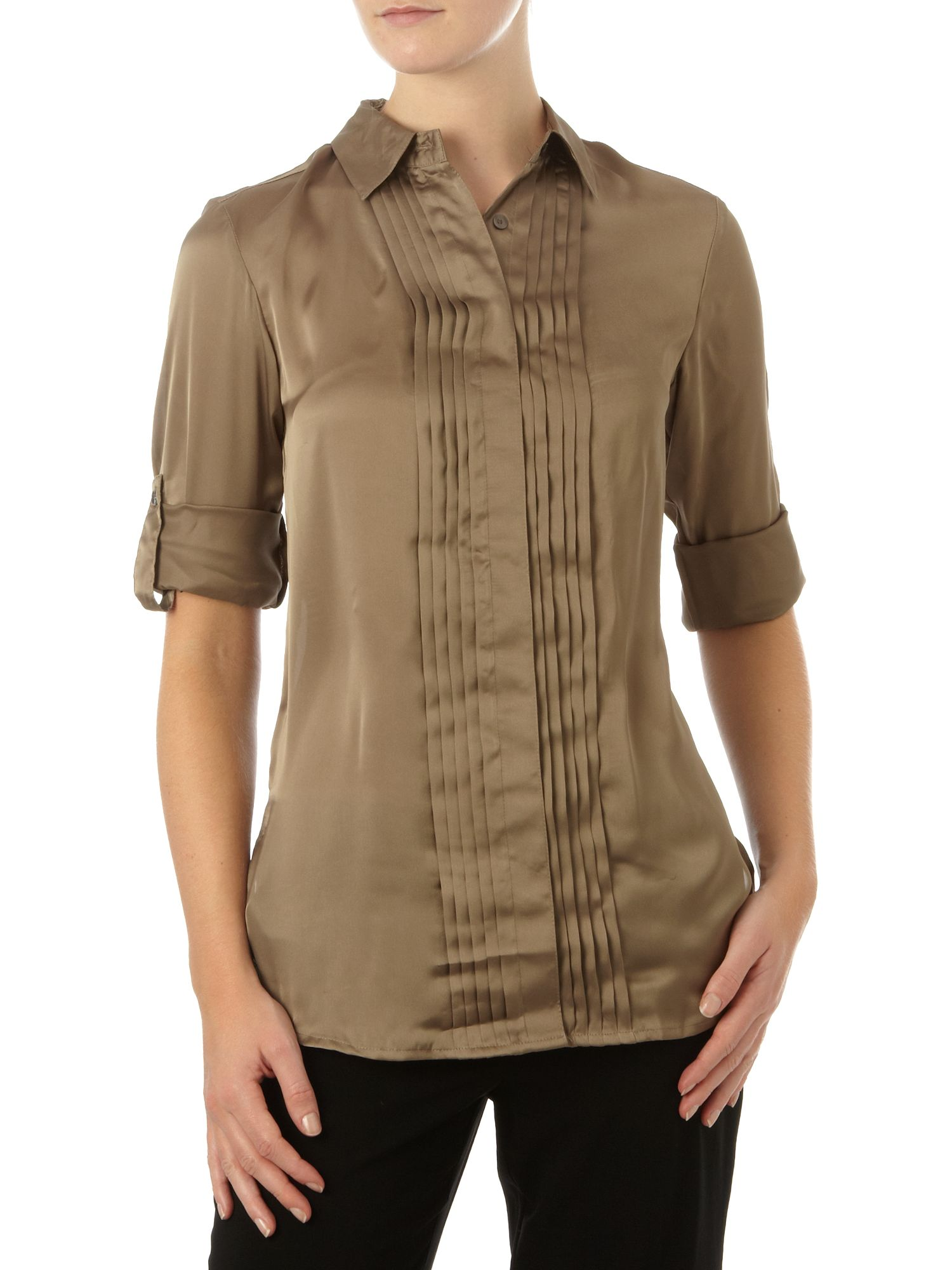 Kenneth Cole Womens Kenneth Cole Long line woven blouse, product image