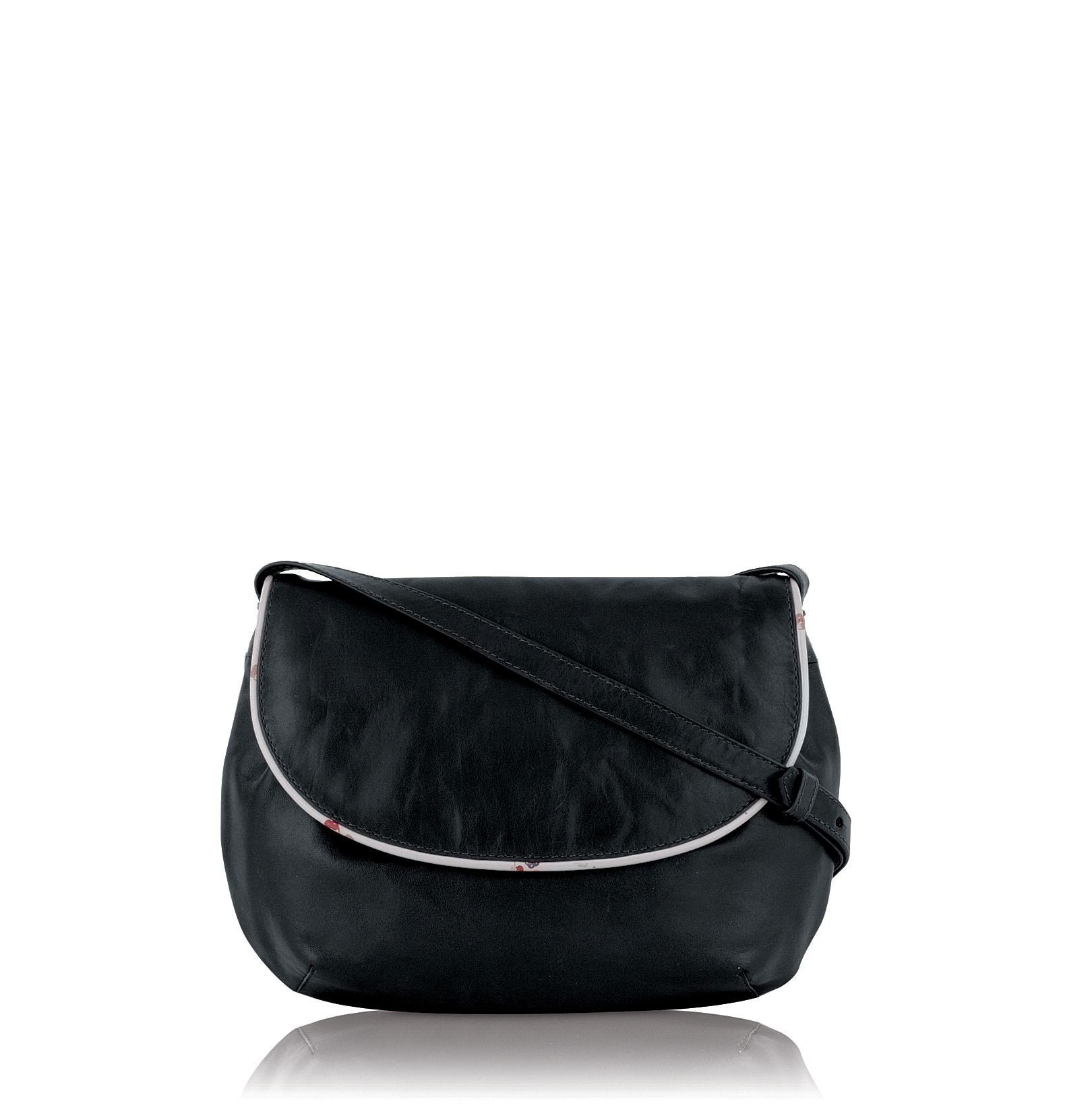 Trissie small leather flapover cross body bag