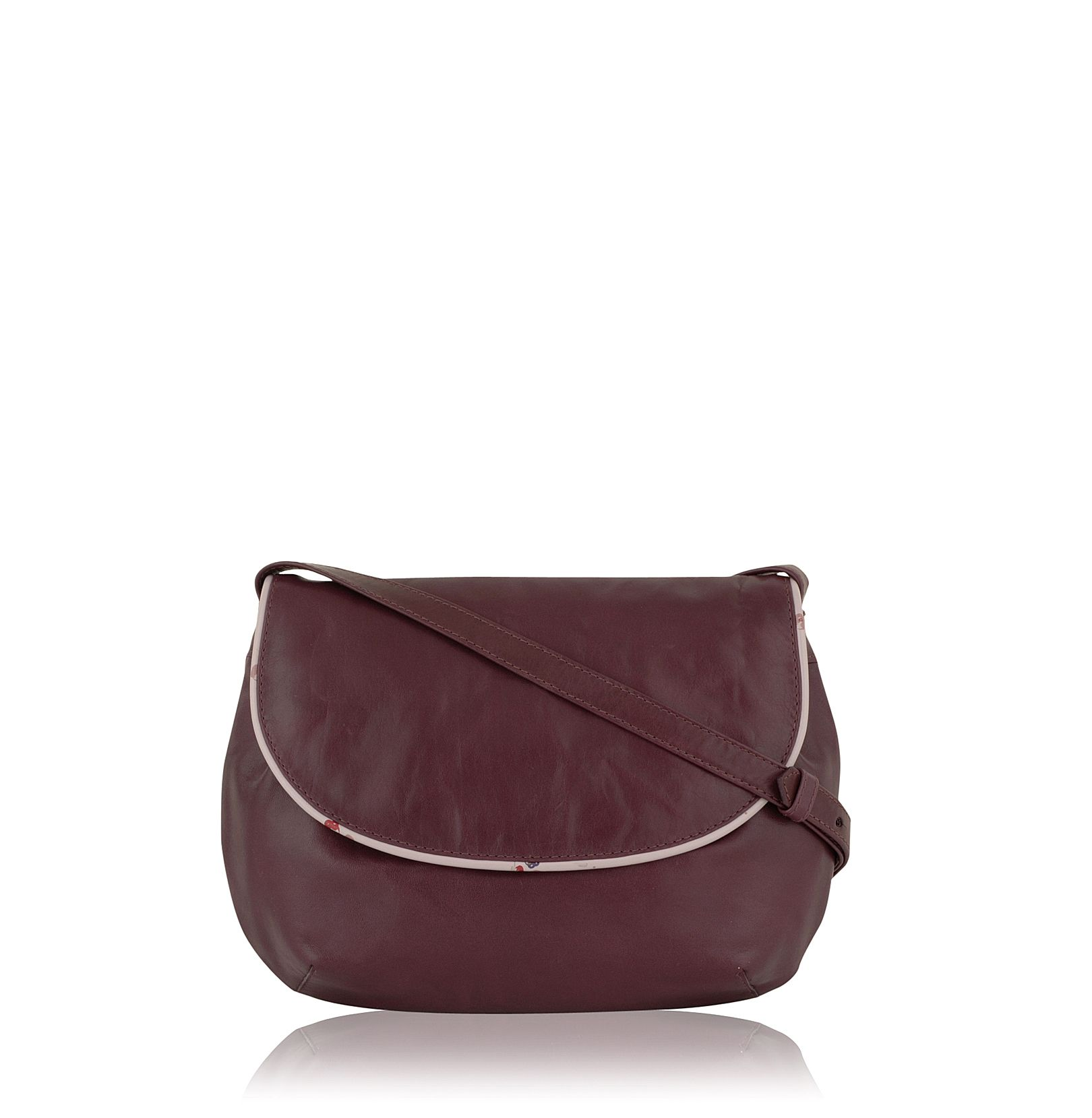 Trissie small leather flapovercross body bag