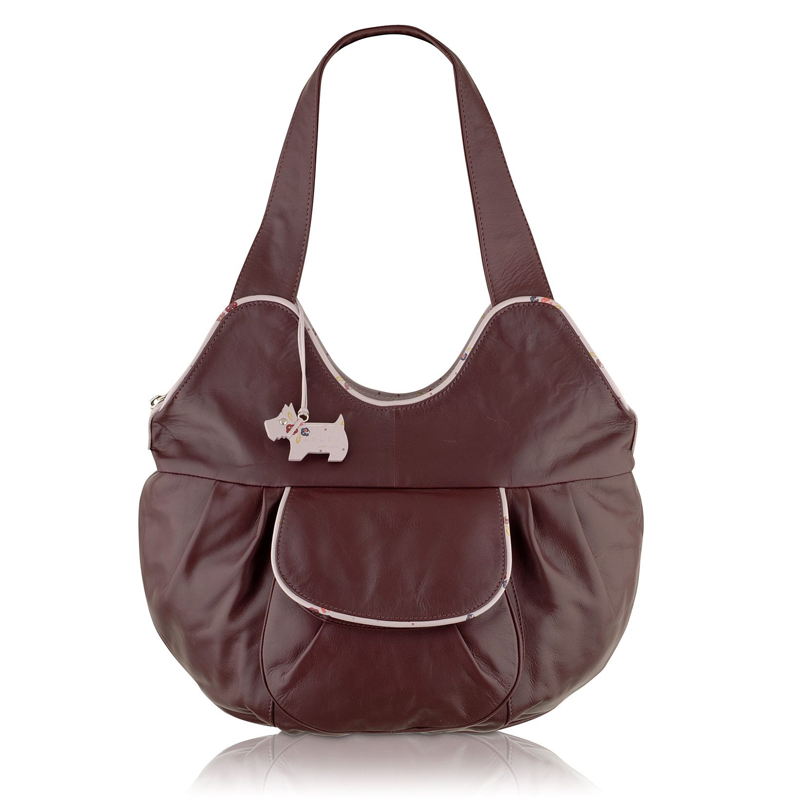 Trissie large leather scoop tote
