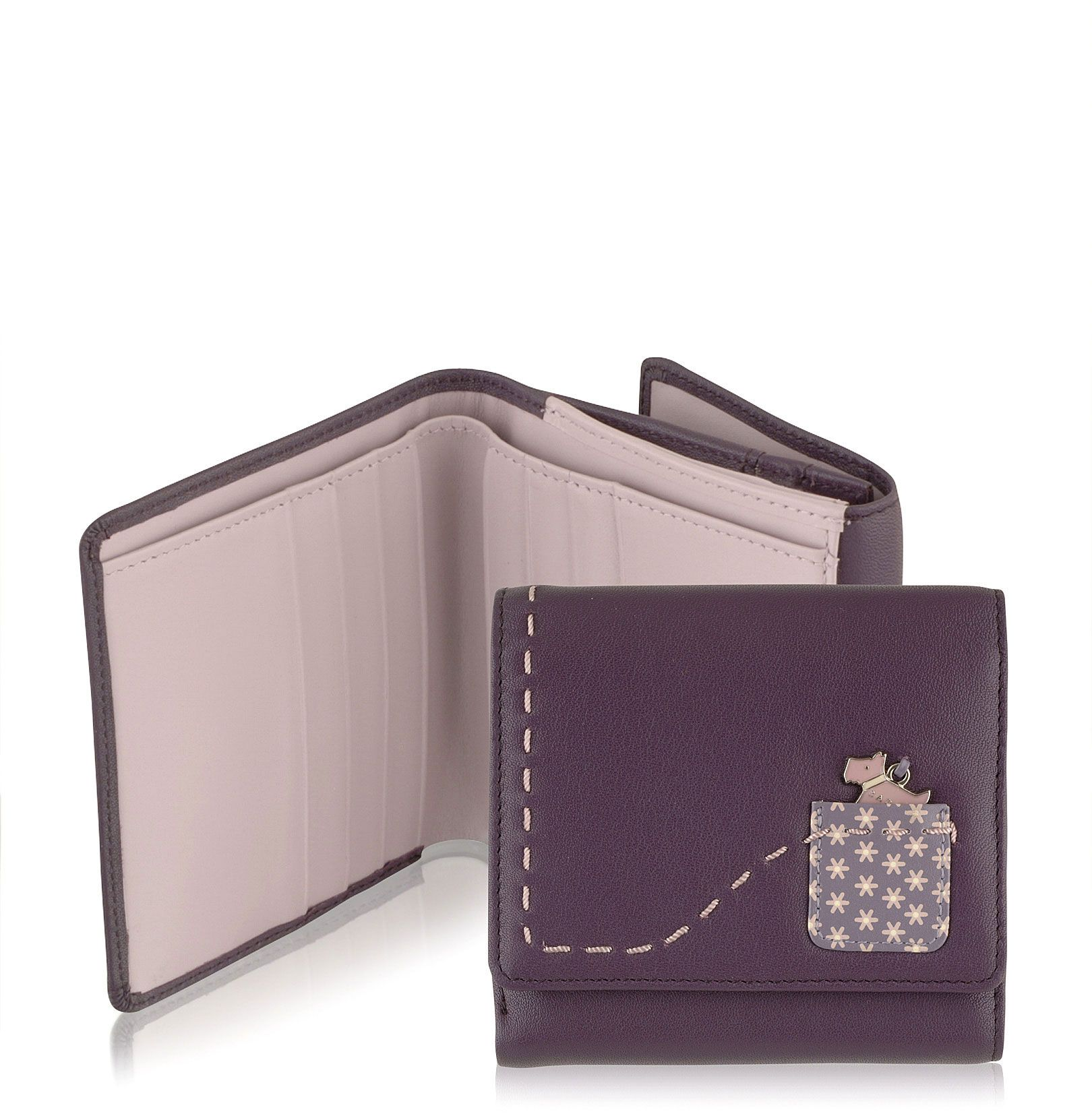 Radley Daisy small leather flapover tab wallet product image