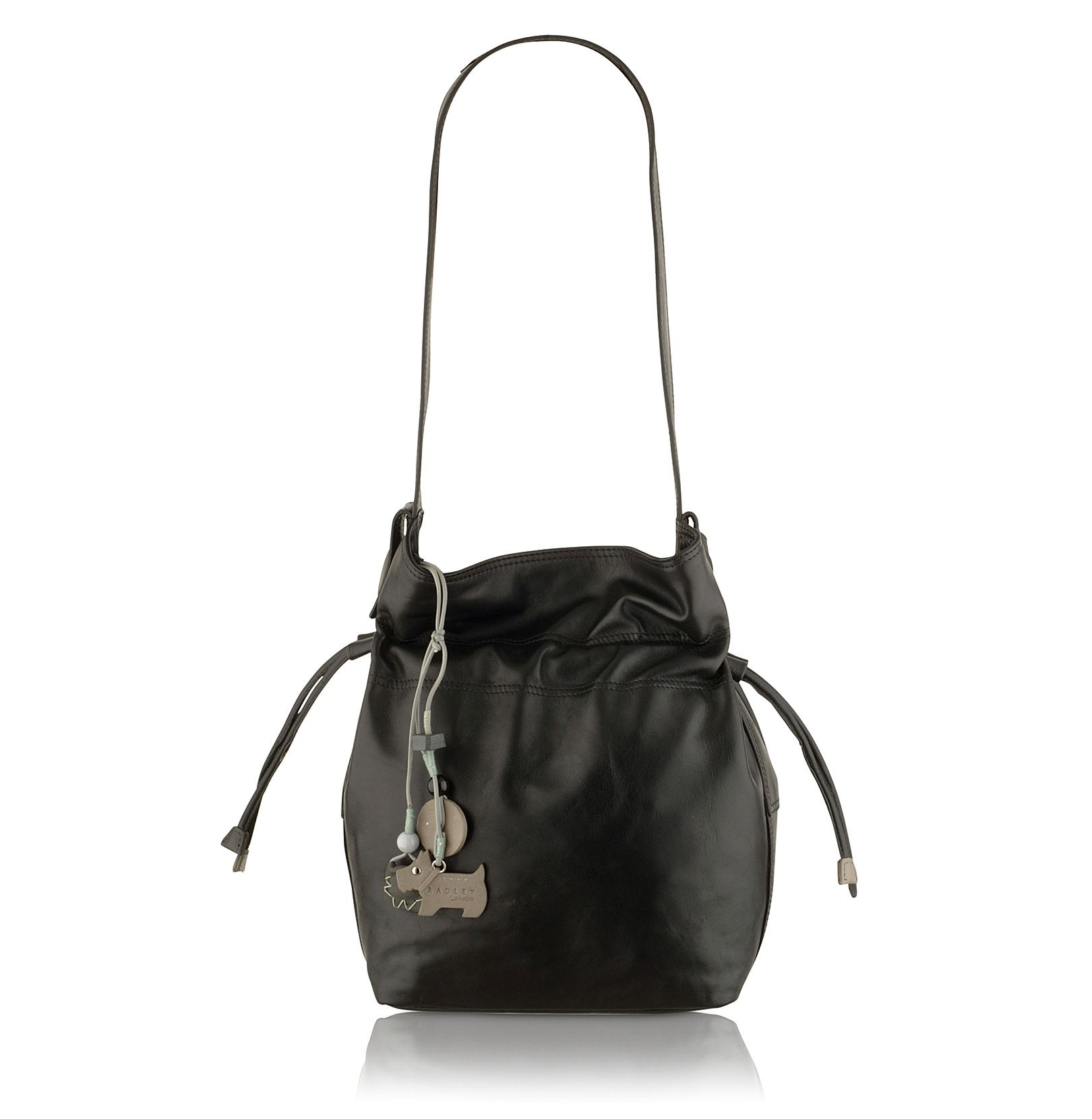 Walpole small leather drawstring bag