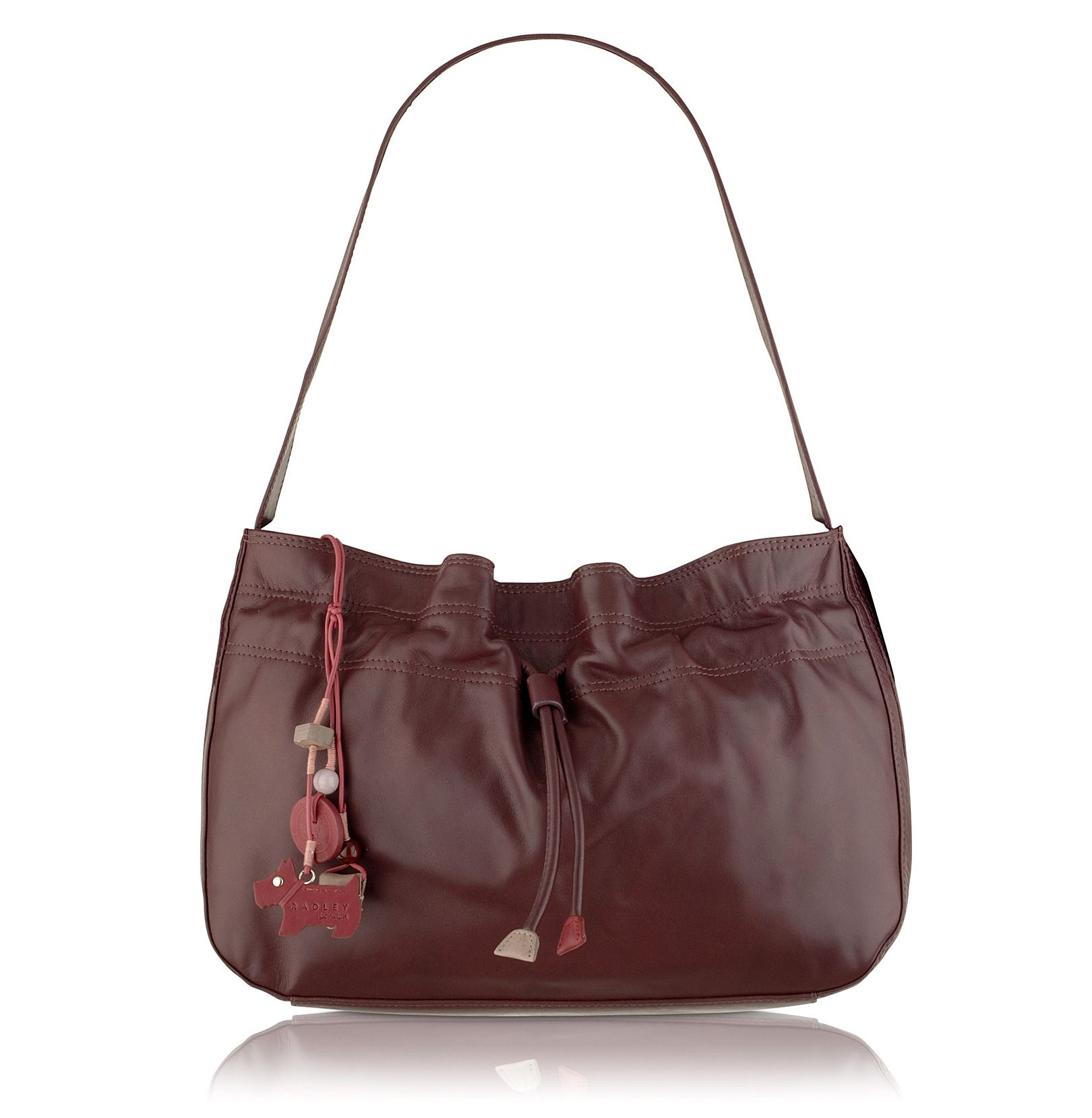 Walpole medium leather drawstring shoulder bag