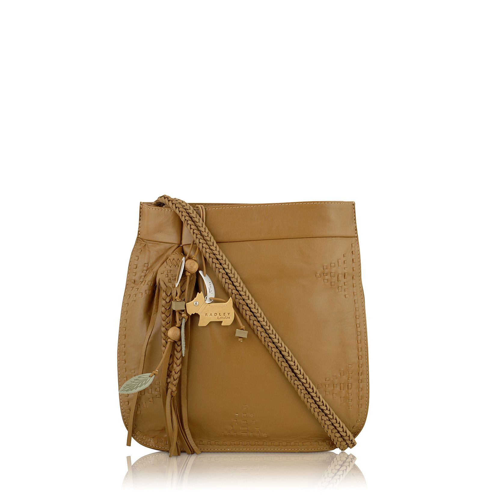 Rossitter medium leather ziptop cross body bag
