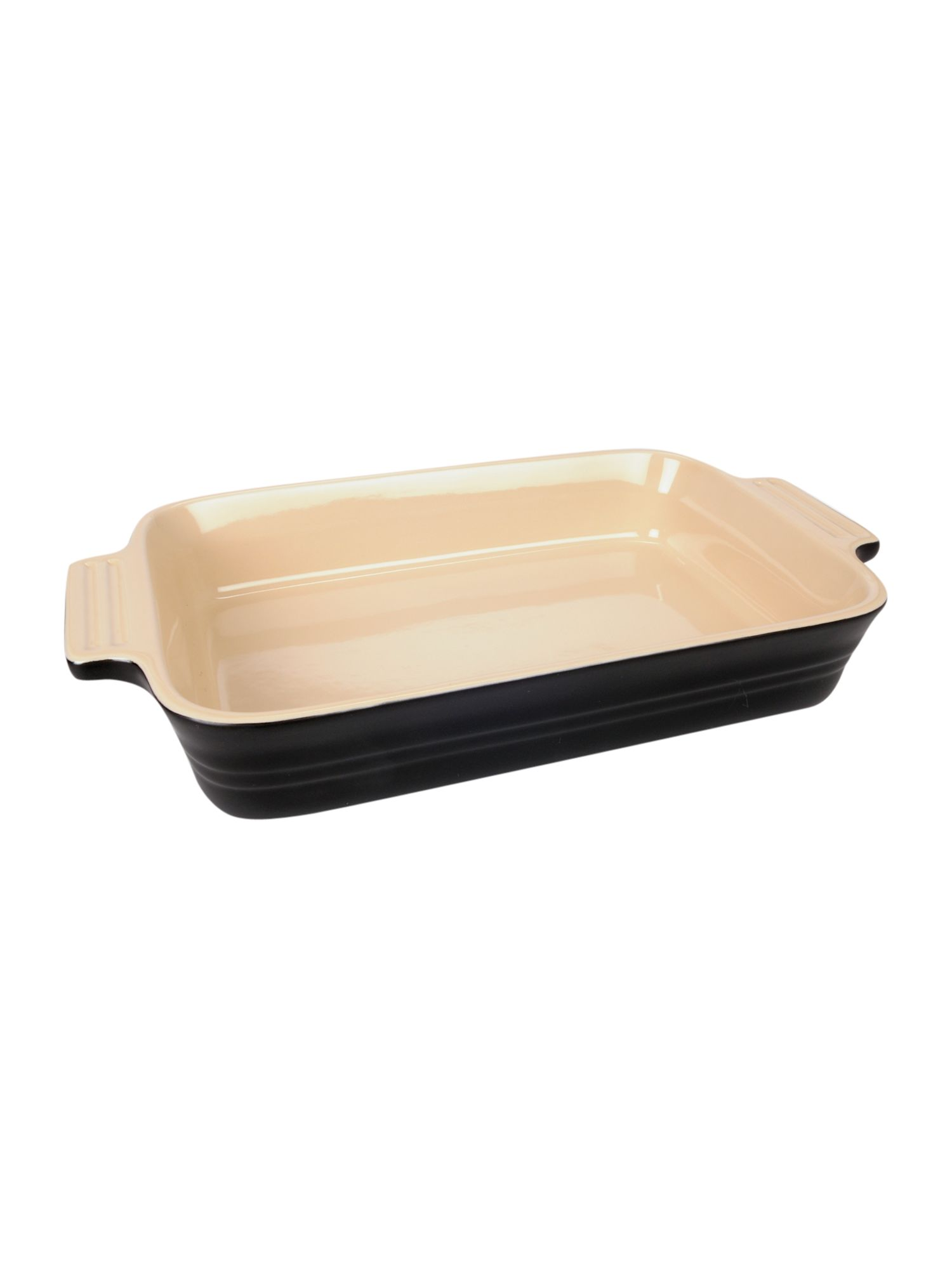 26cm satin black rectangular dish