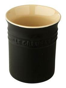 Utensil Jar, Satin Black