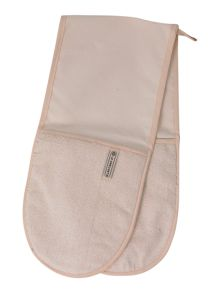 Double oven glove, cream