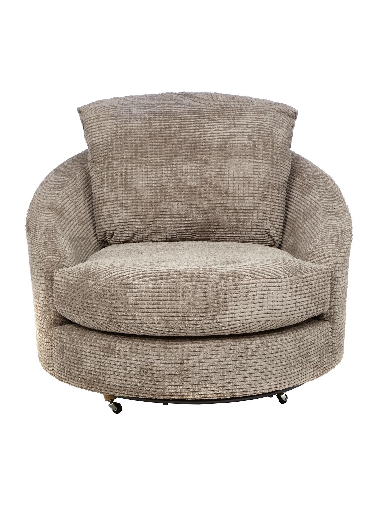 Roma swivel chair mink