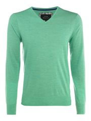 Linea Loughton merino V-neck jumper