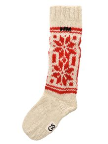 Chunky socks with snowflake design