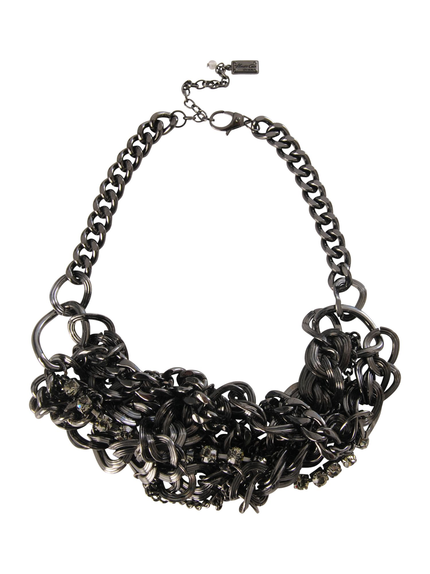 Kenneth Cole Black twist chain necklace