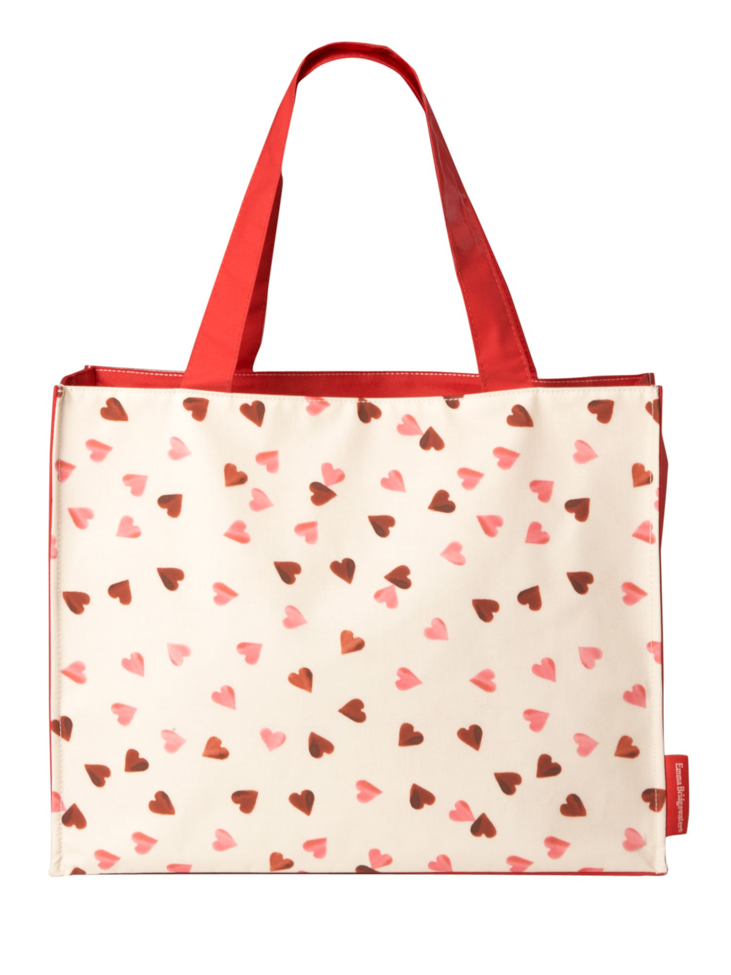Pink heart large e/w tote bag