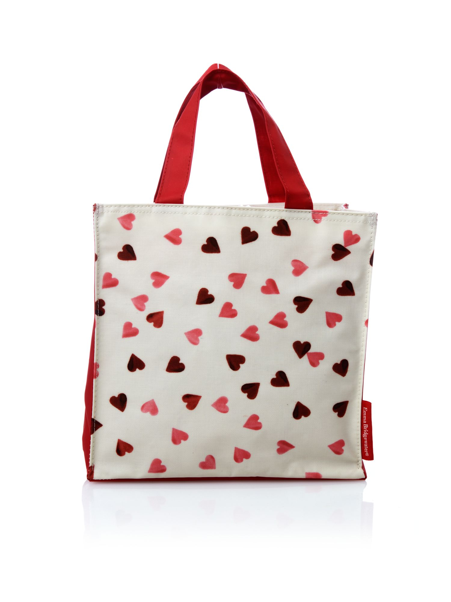 Pink heart small n/s tote bag