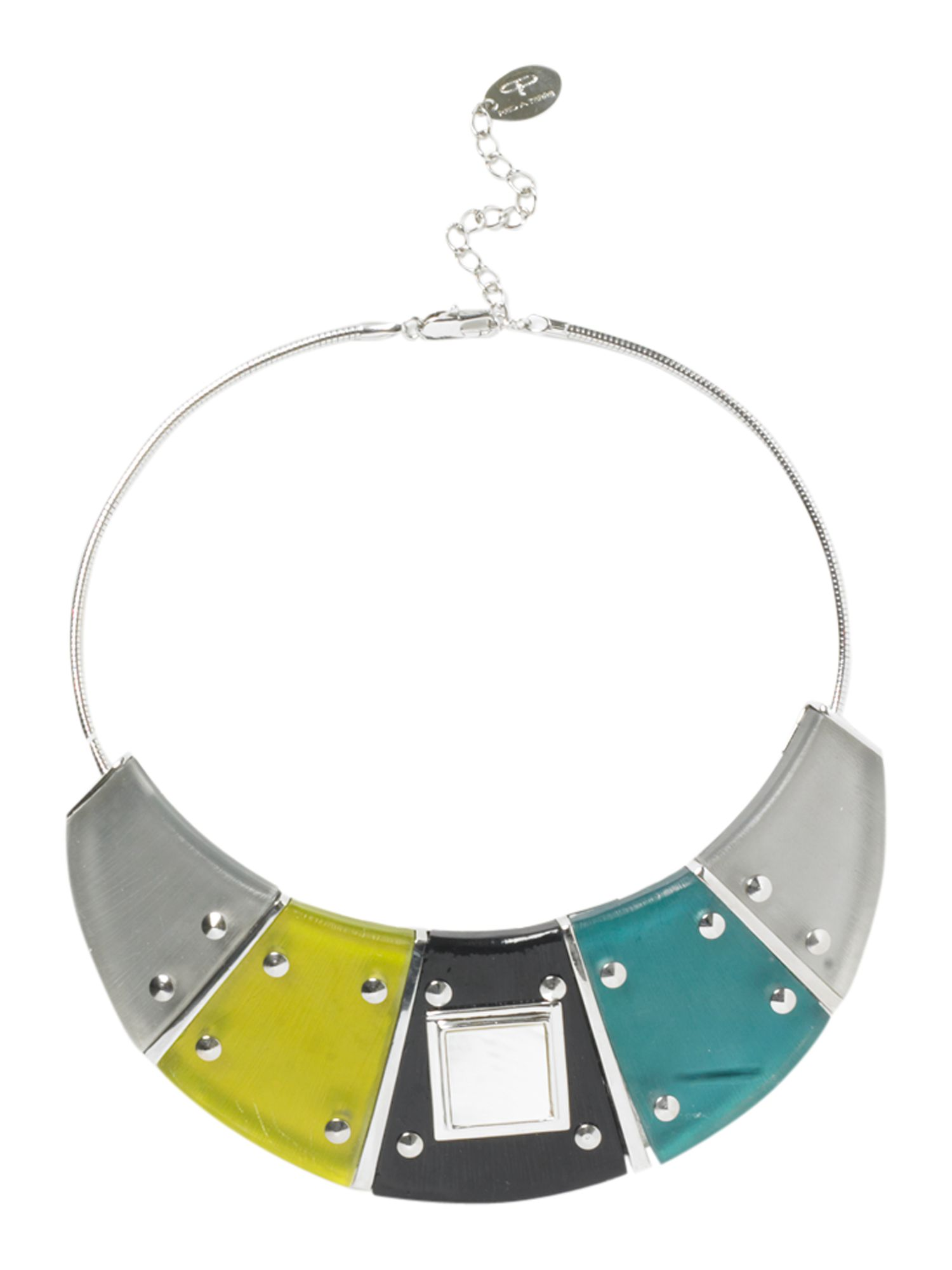 Pied a Terre Geometric studded bib necklace product image