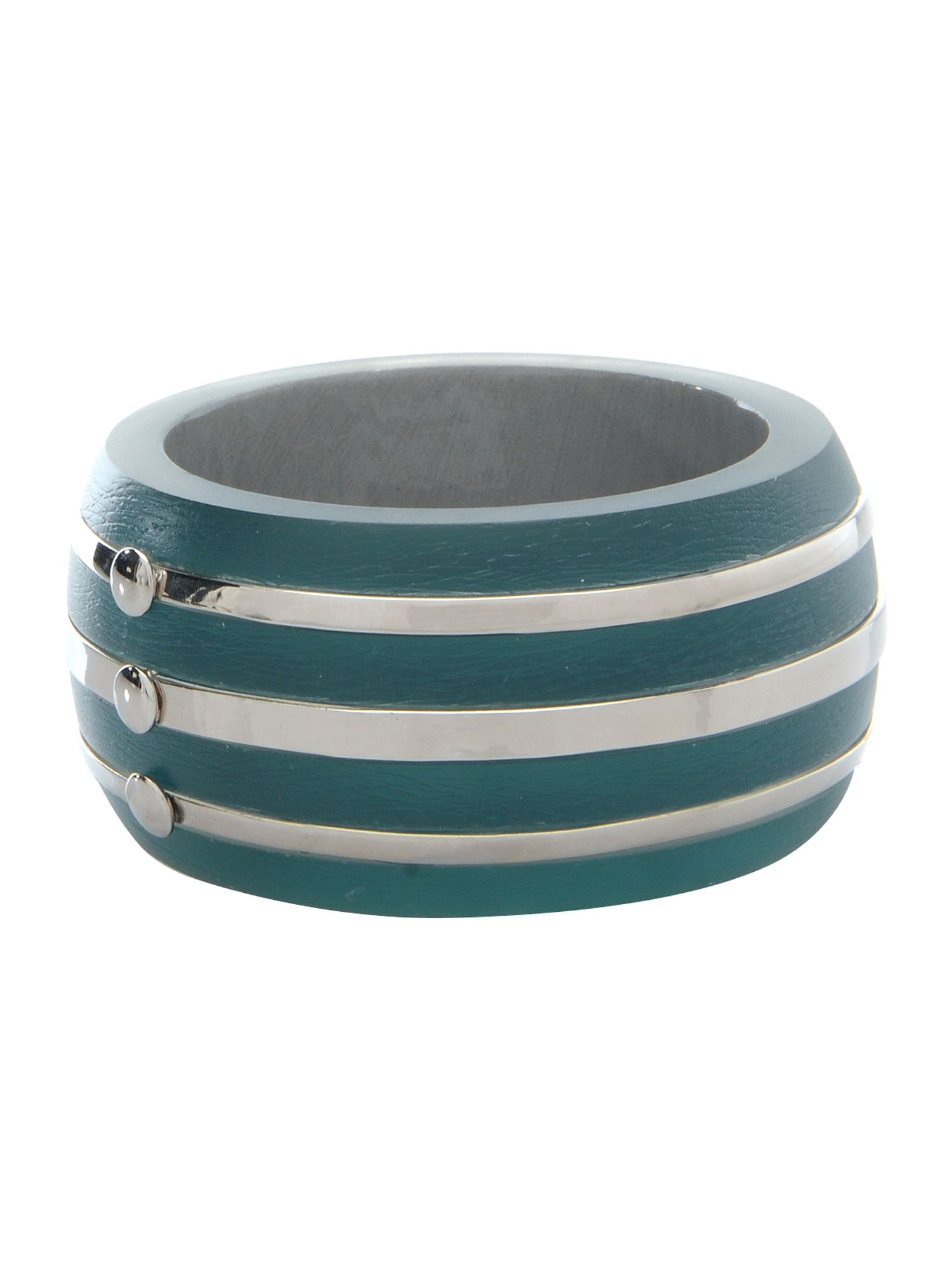 Chunky teal bangle