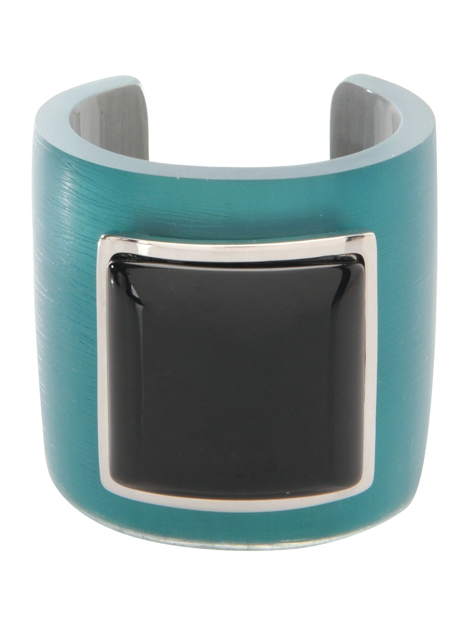 Pied a Terre Teal square stone cuff product image