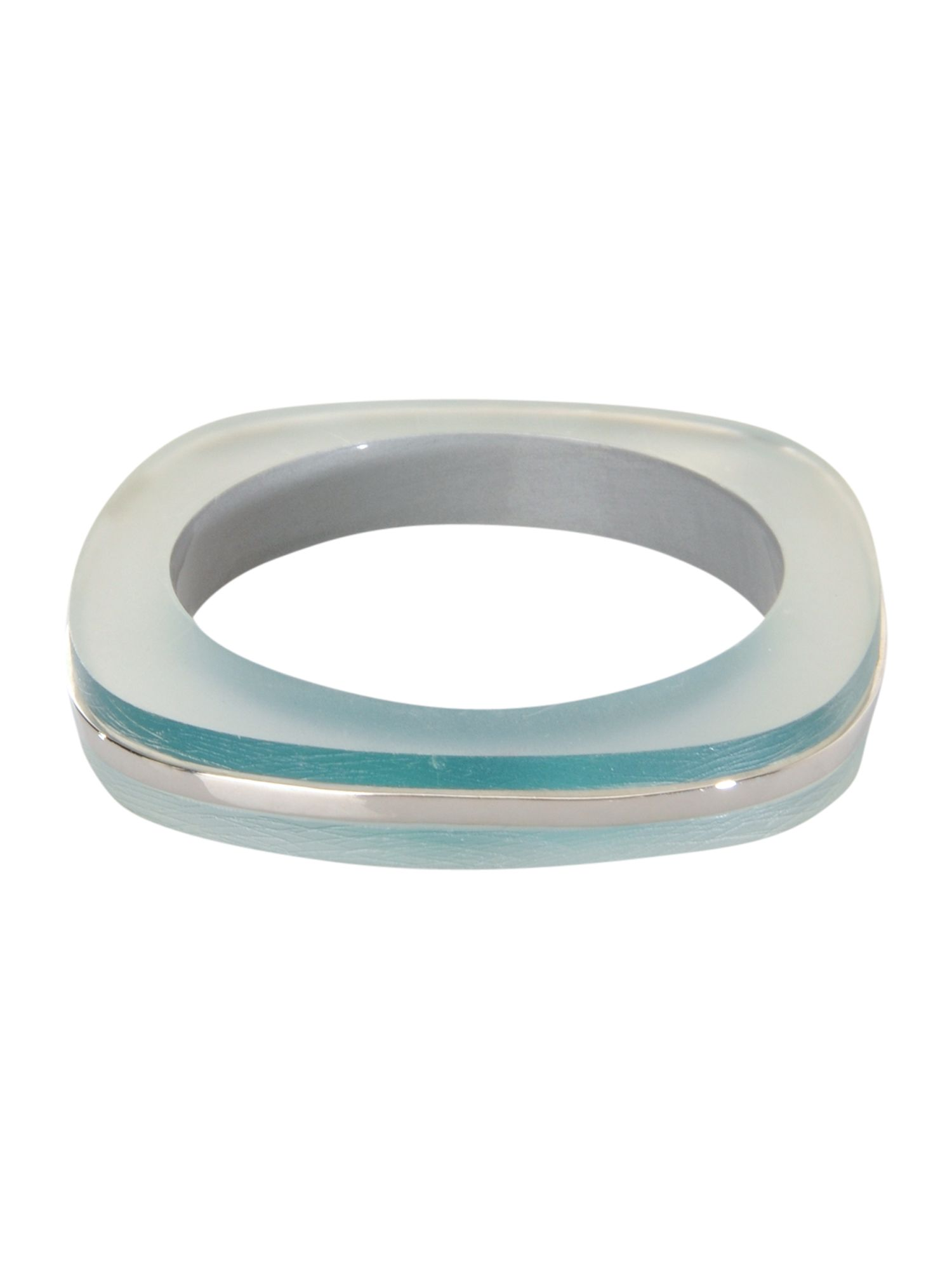 Teal square bangle