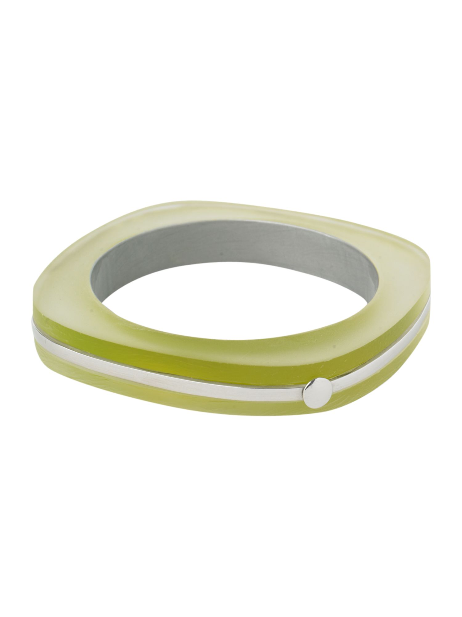 Lime square bangle