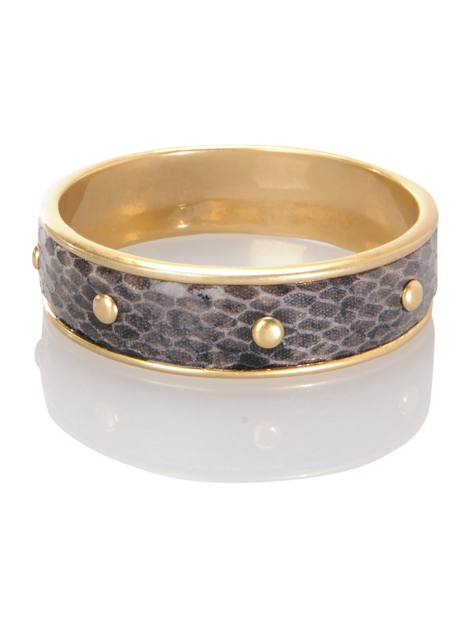Pied a Terre Snake print stud bangle product image