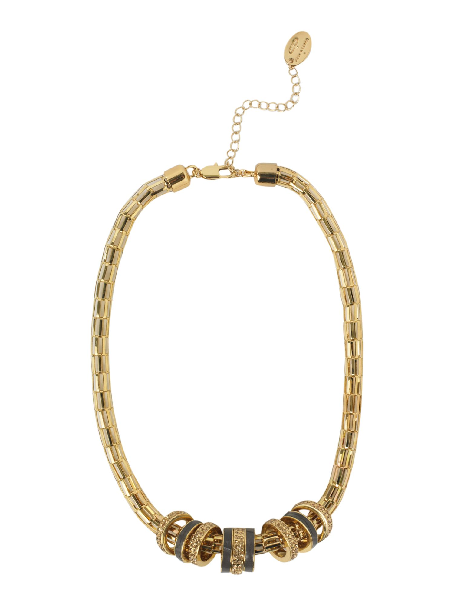 Pied a Terre Pave hoop cluster necklace product image