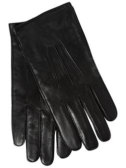 Mens fleece lined leather glove
