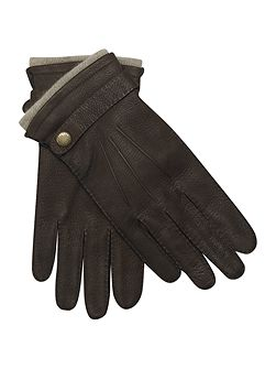 Dents Men`s cashmere lined casual leather glove