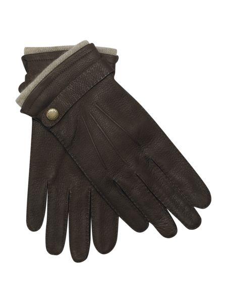 Men`s cashmere lined casual leather glove