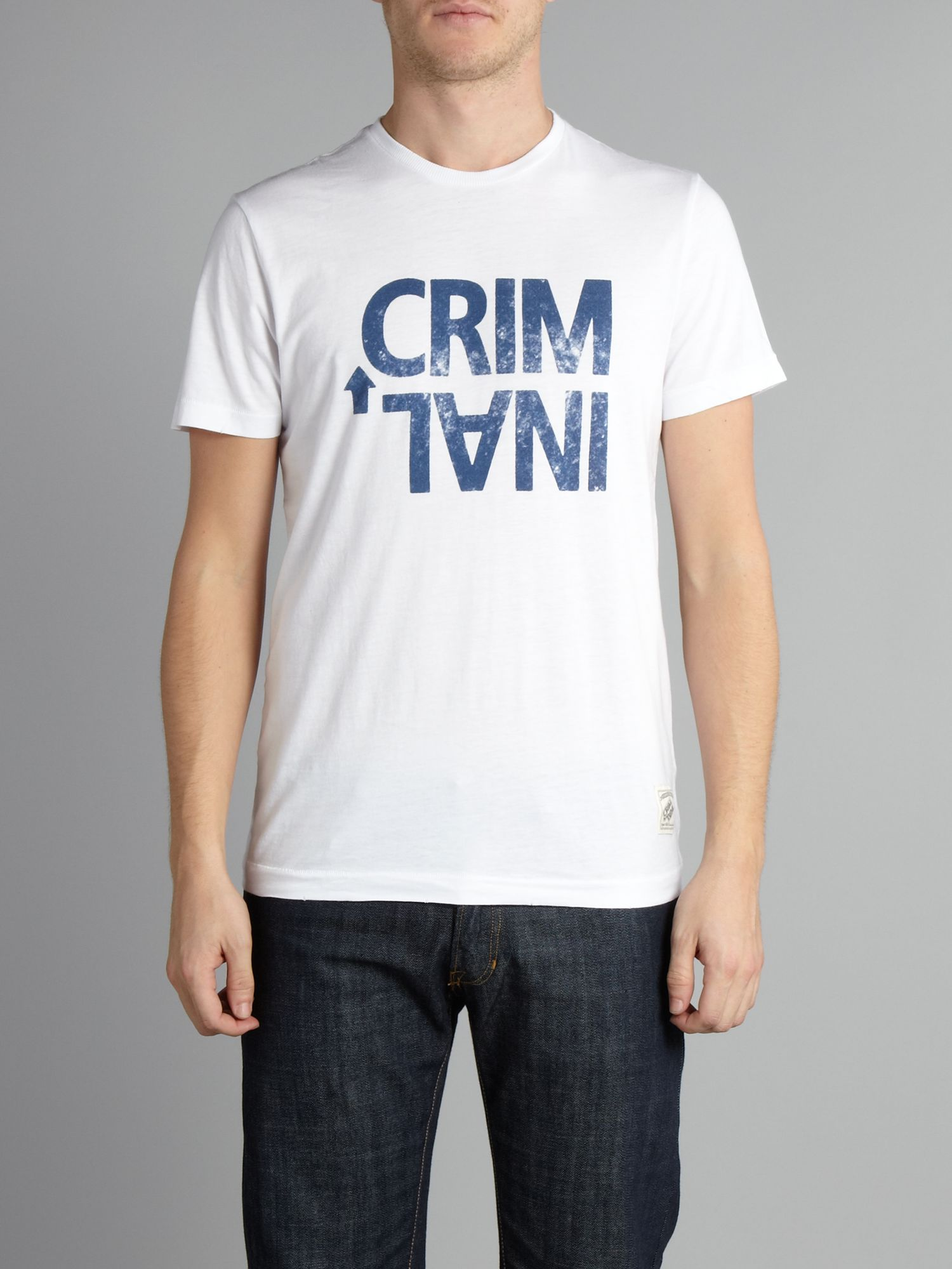 Criminal Stamp T-shirt - White L,L,S,S,XL,XL,M,M product image