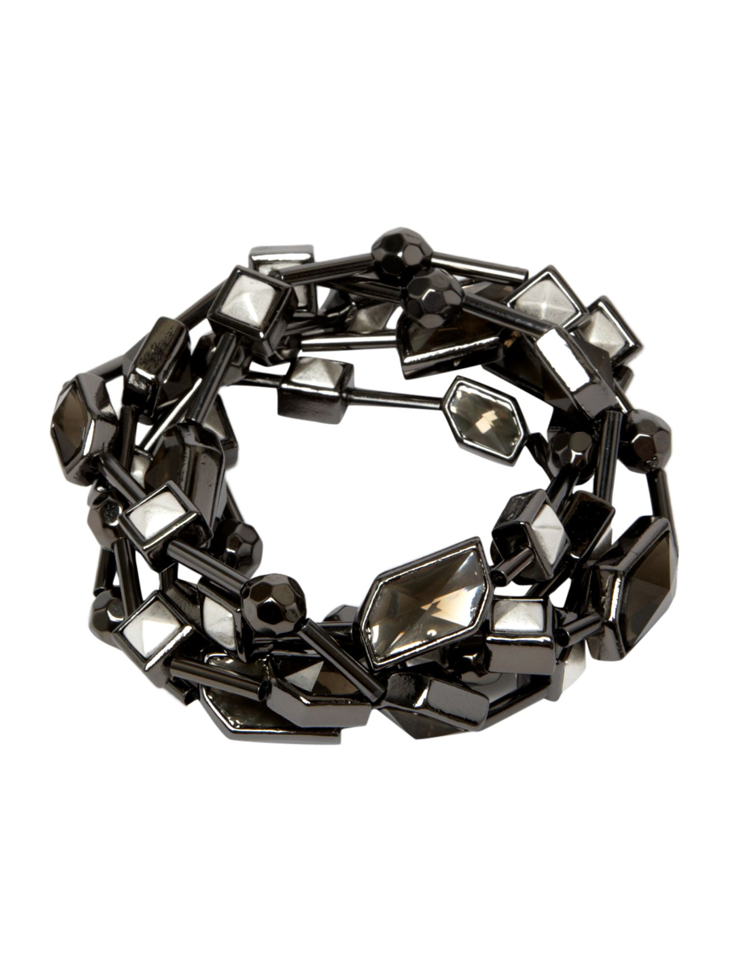 Pied a Terre Pyramid stud stretch bracelet set product image