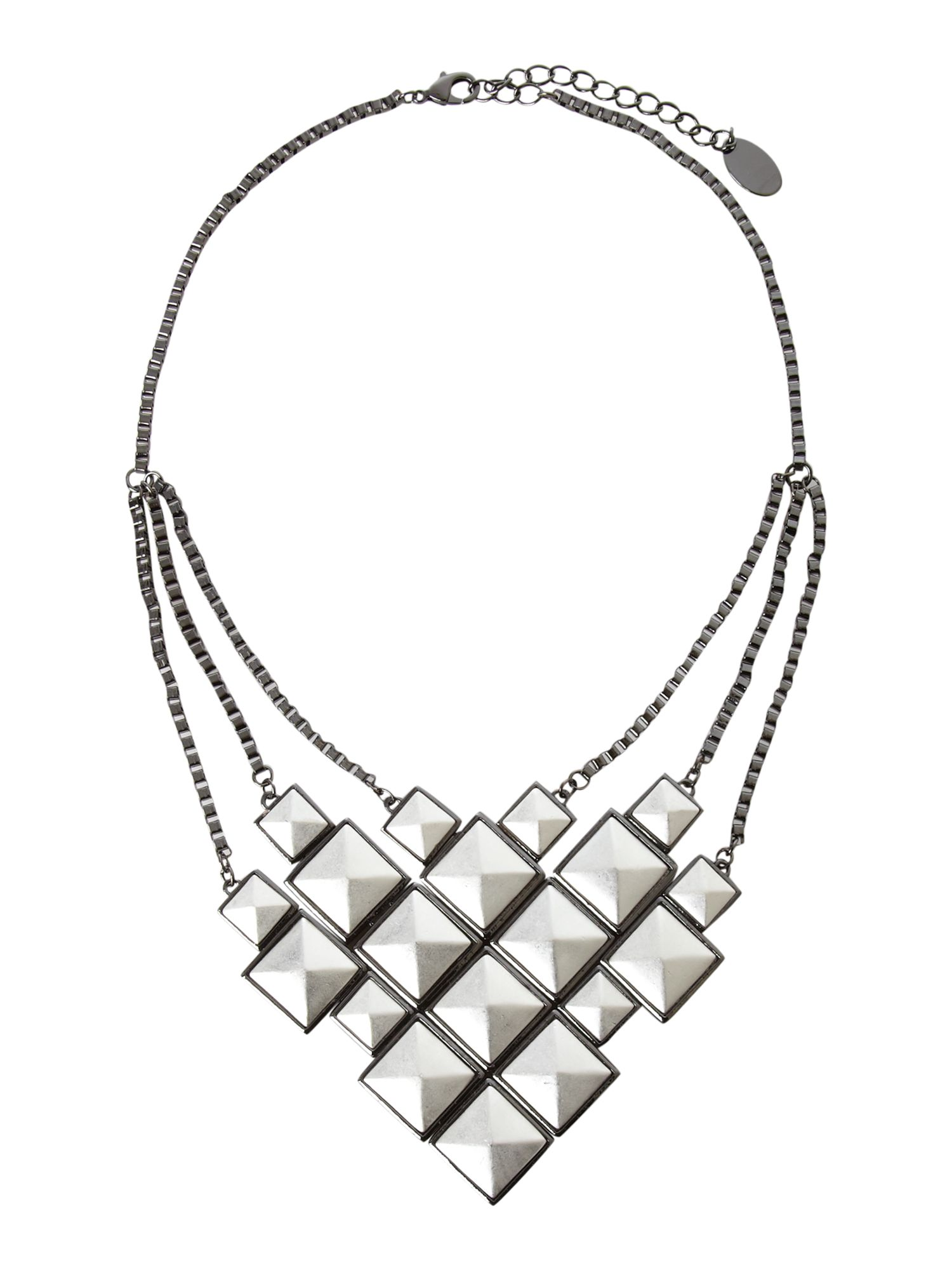 Pied a Terre Pyramid stud bib necklace product image