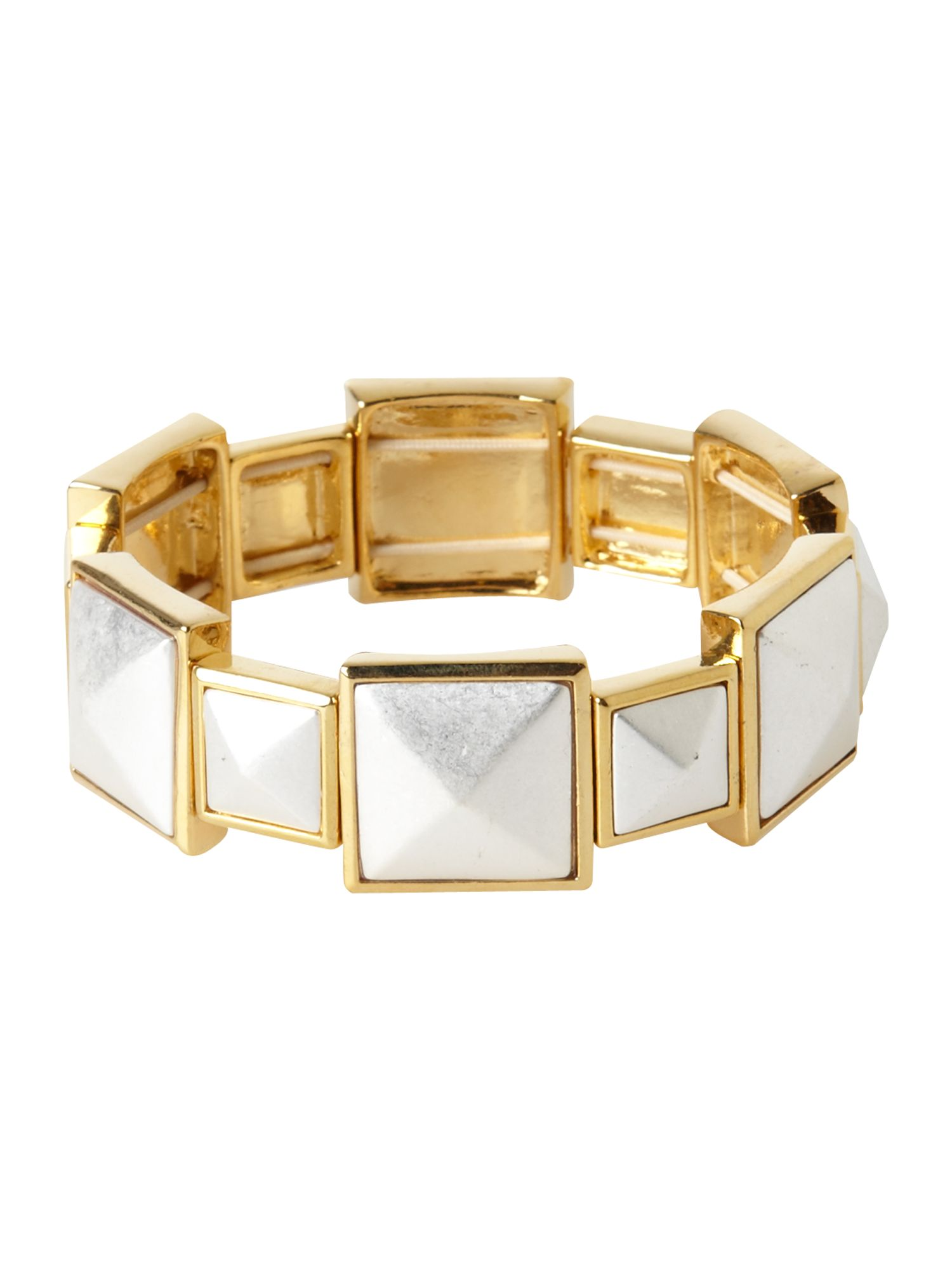 Pied a Terre Pyramid stud stretch bracelet product image