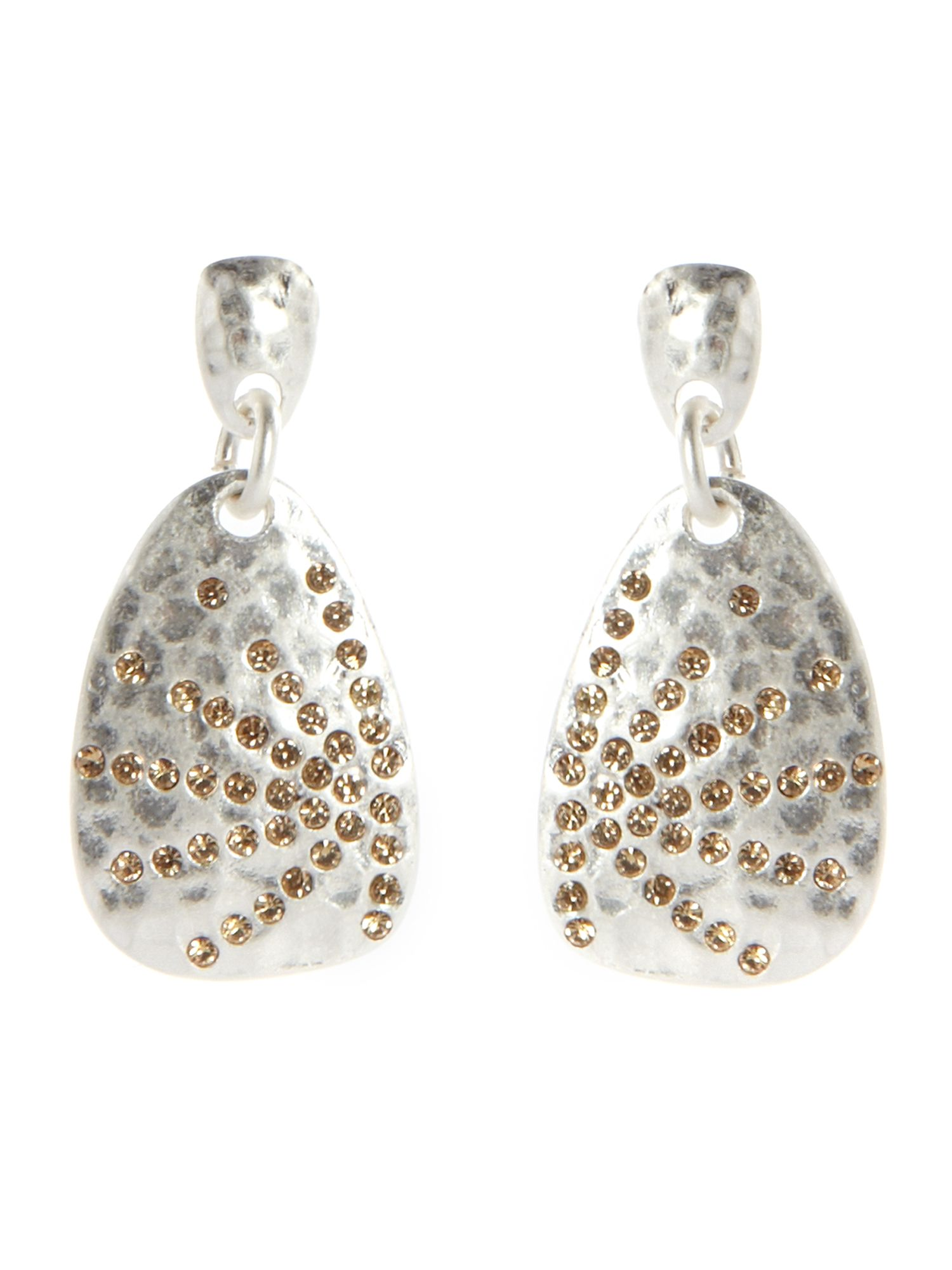 Pied a Terre Textured crystal fan drop earrings product image