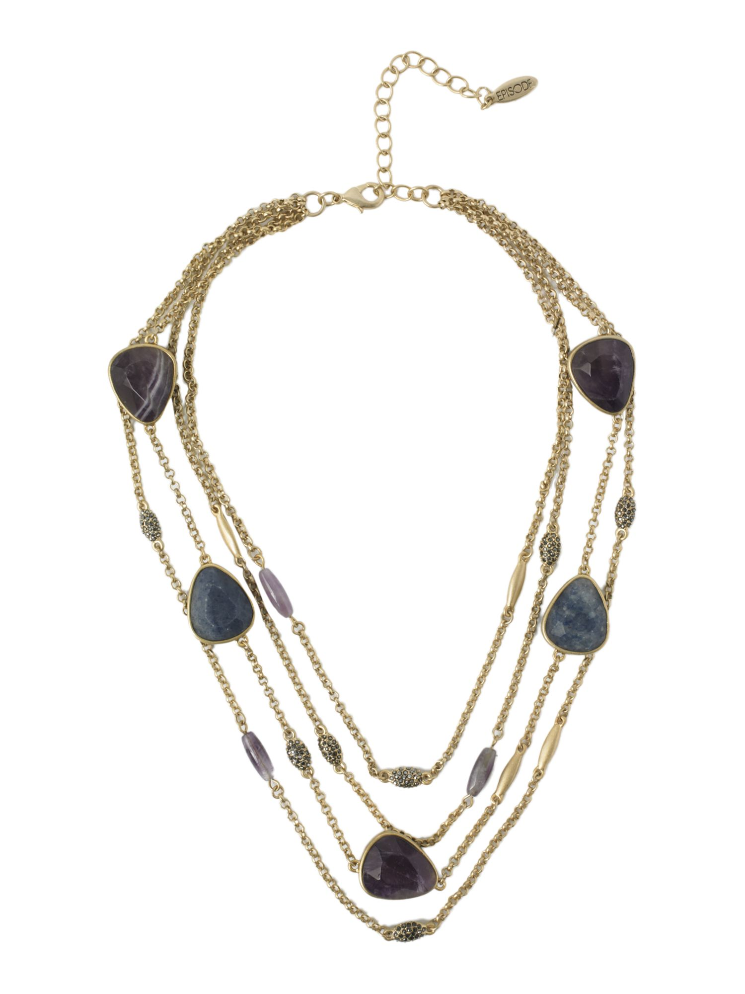Episode Semi-precious stone three row necklace product image