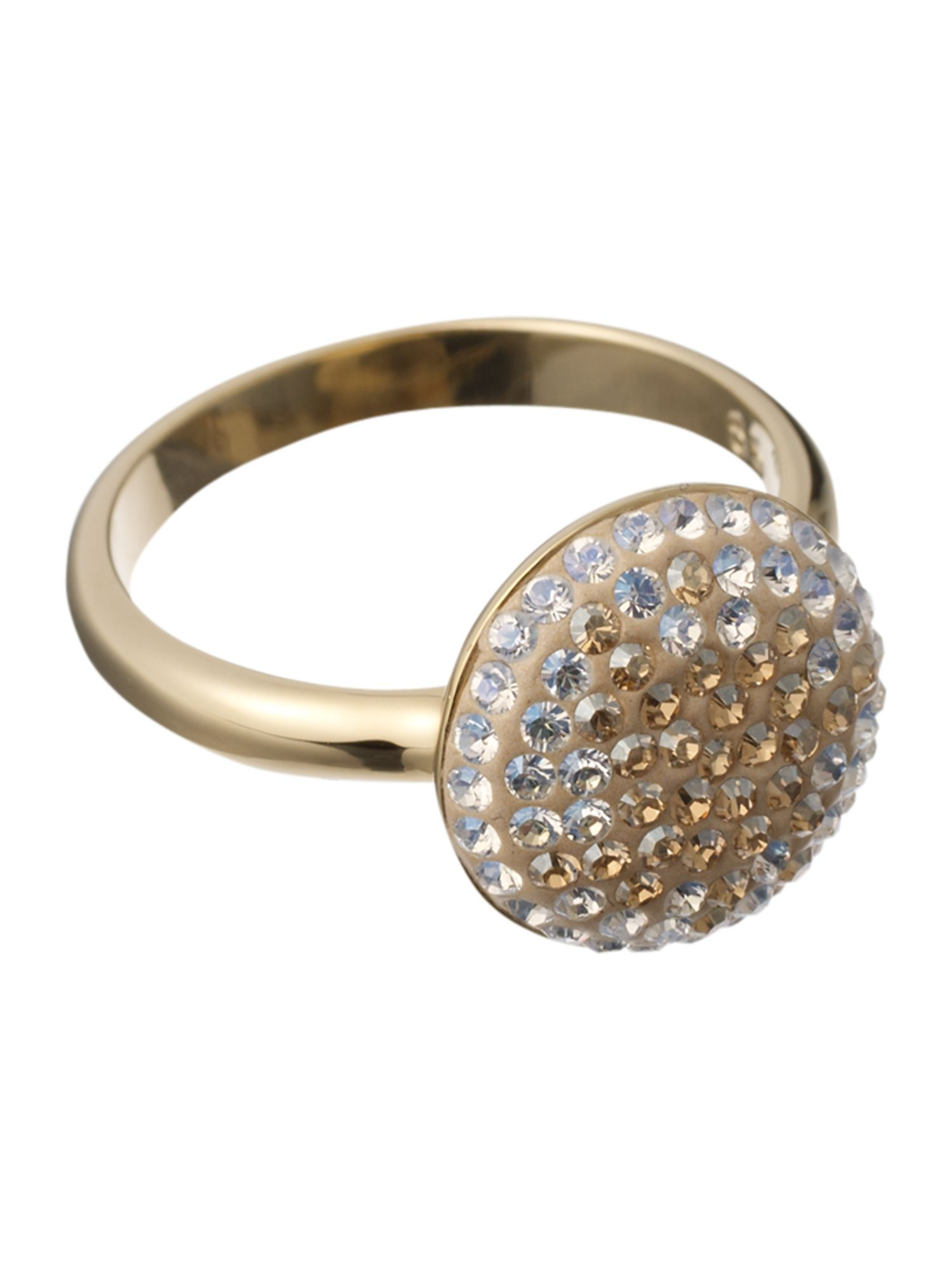 Maggy crystal encrusted ring - Gold