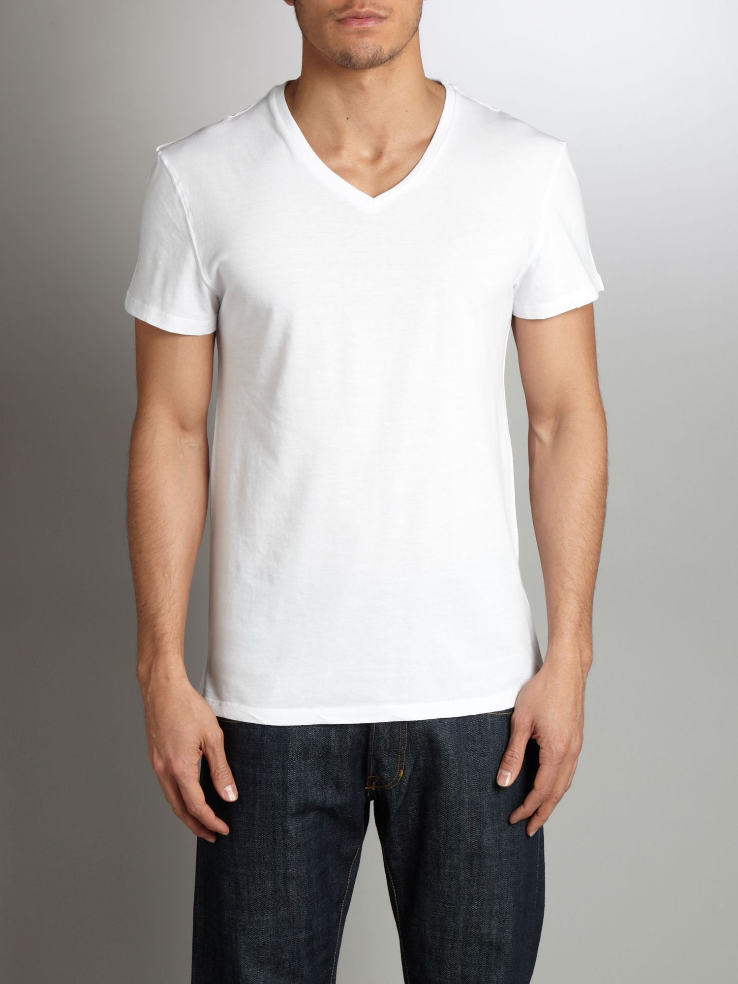 Linea Repair V-neck T-shirt - White product image