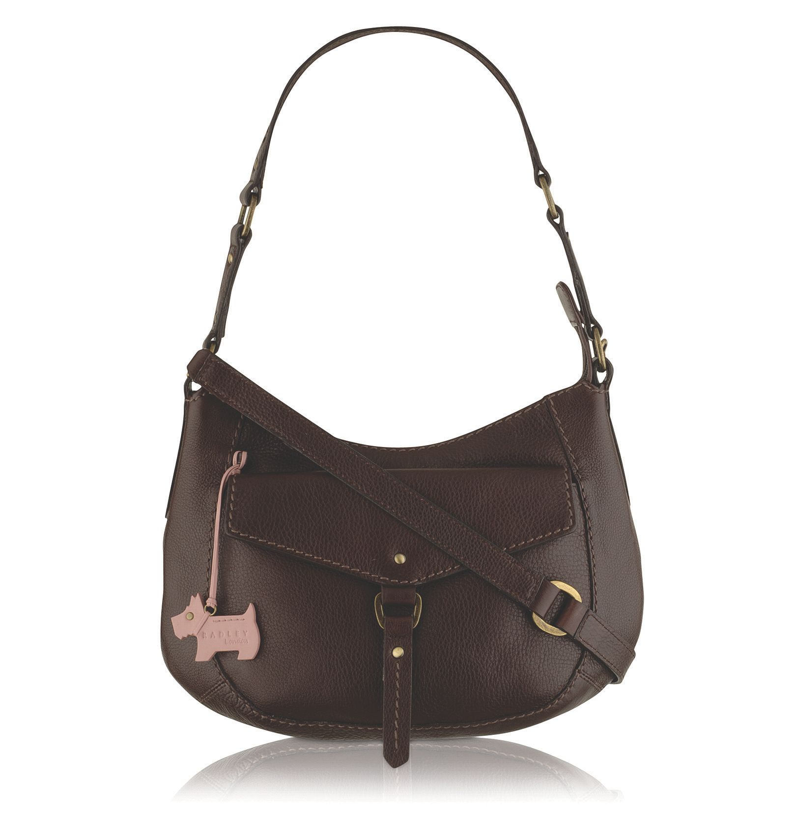 Small zip top pocket hobo bag
