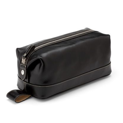 Men`s Classic Black Washbag