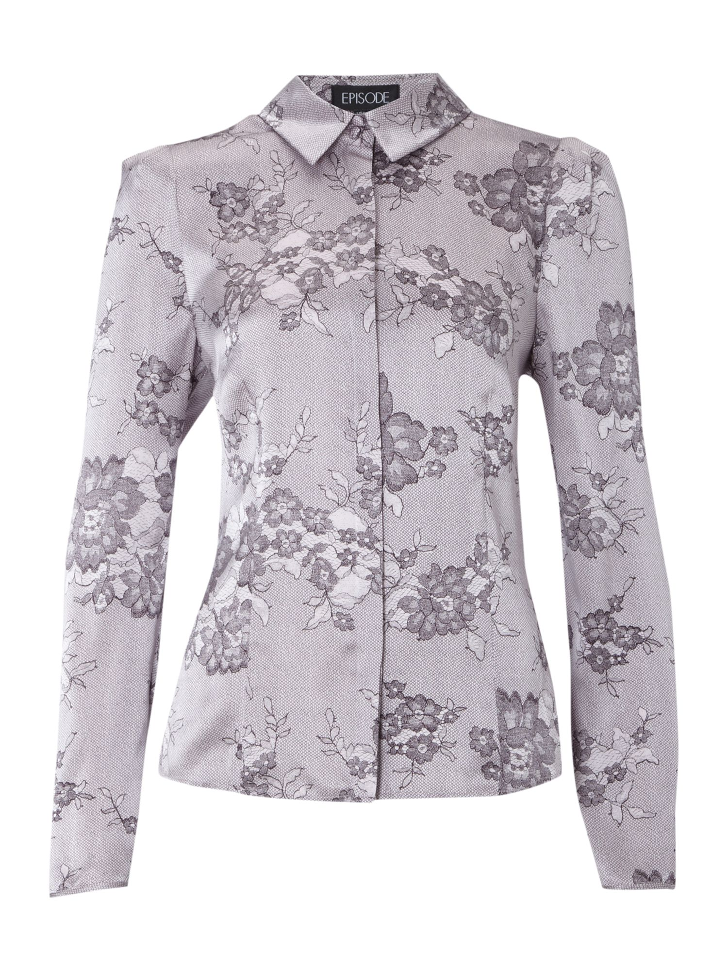 Episode Womens Episode Lace print blouse, White product image