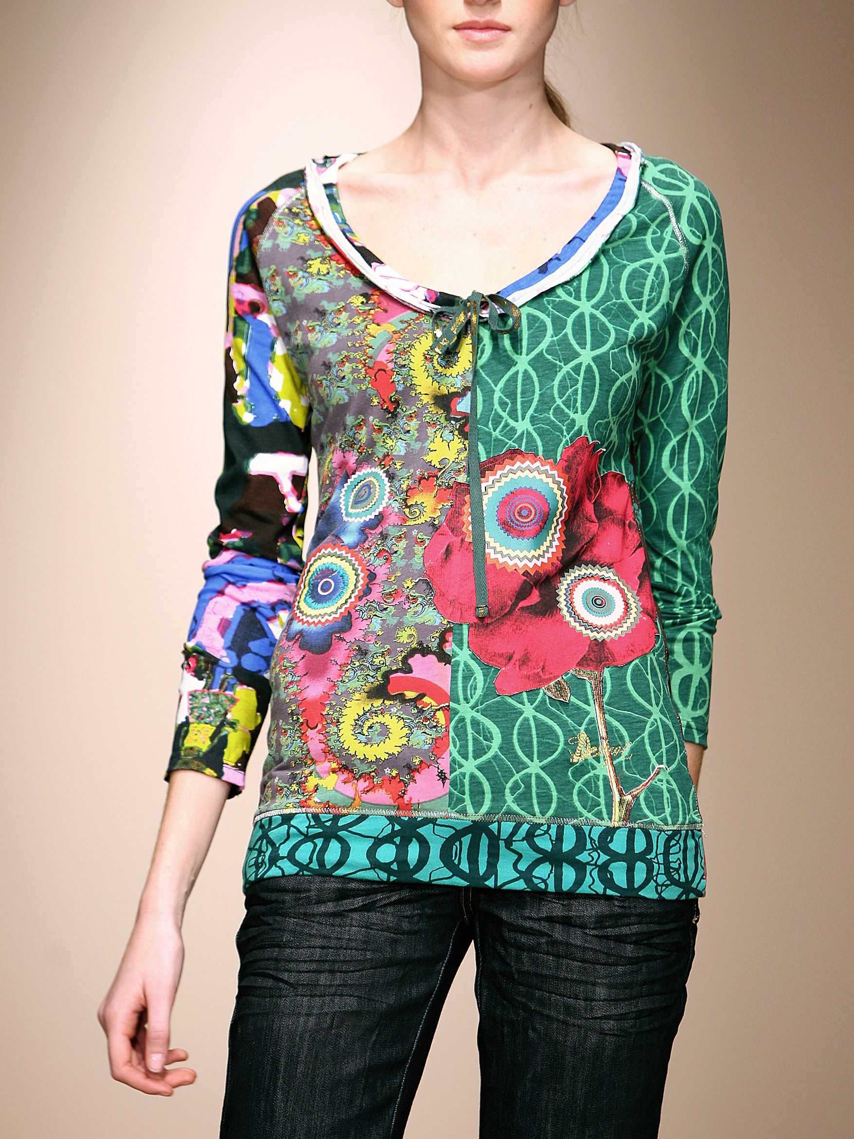 Desigual T-shirt marcela Green product image