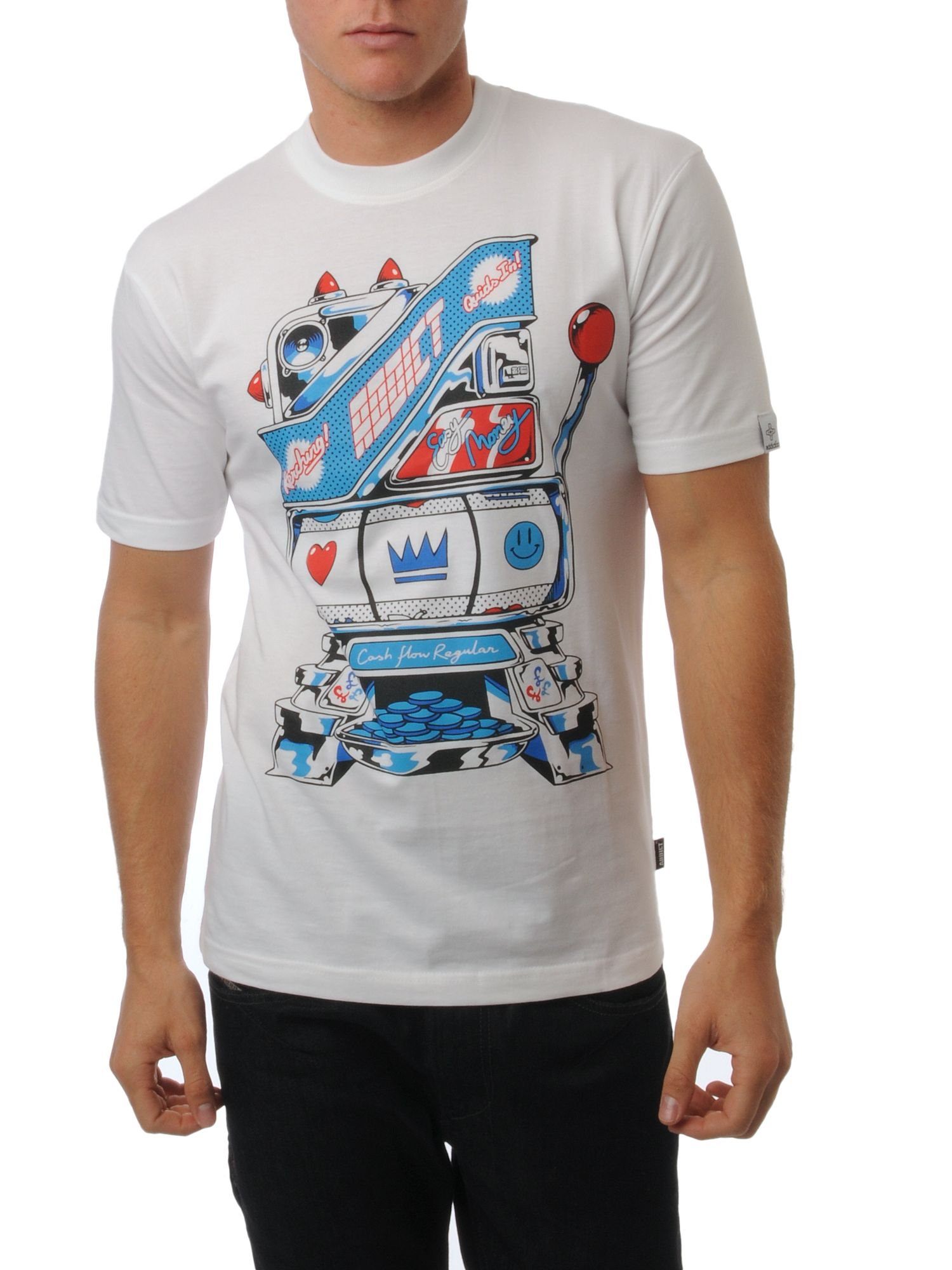 Addict Pinball logo t-shirt White product image