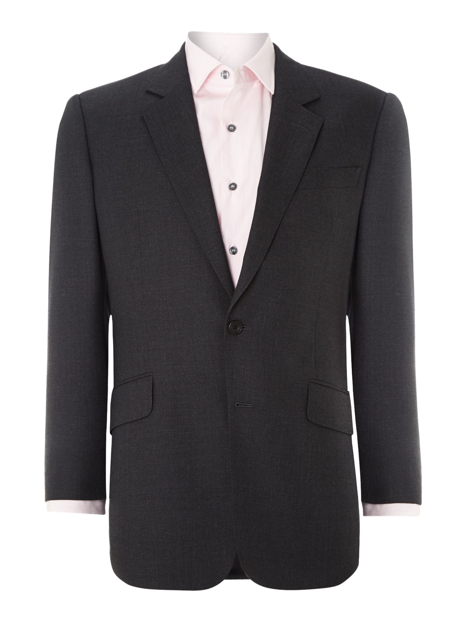 Plain hopsack suit jacket