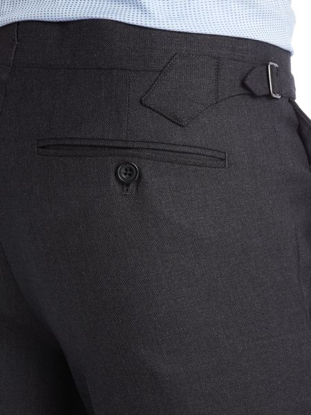 Chester Barrie Plain Hopsack Suit Trousers