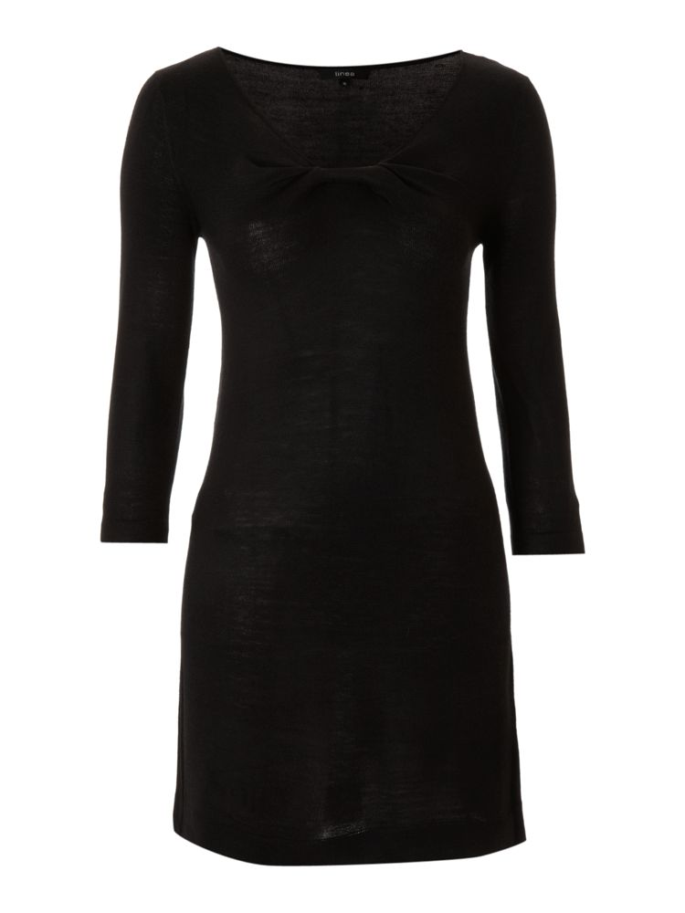 Linea-Knot-Detail-Dress-In-Black